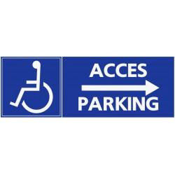 Stationement accès parking handicapé