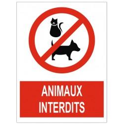 Panneau animaux interdits