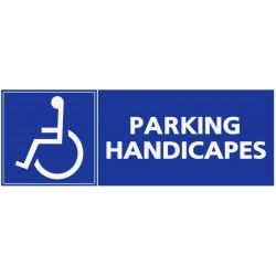 Panneau stationnement parking handicapés