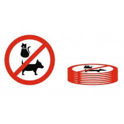 Lot Panneau animaux interdits