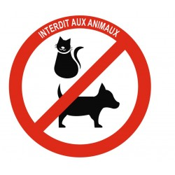 Panneau interdit aux animaux