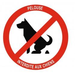 Panneau pelouse interdite aux chiens