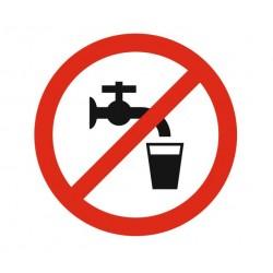Panneau interdiction de boire