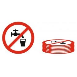 Lot panneau interdiction de boire