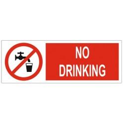 Panneau no drinking