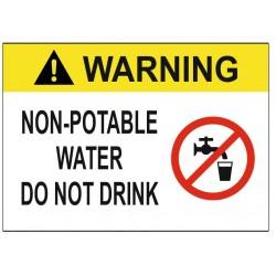 Panneau non potable water do not drink