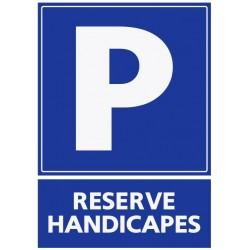 Panneau stationnement réservé handicapés