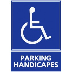 Panneau parking handicapés