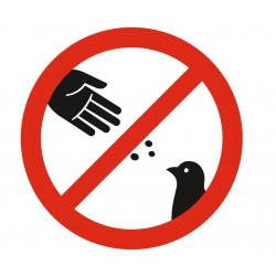 Panneau défense de nourrir les oiseaux
