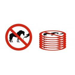 Lot Panneau défense de nourrir les chevaux