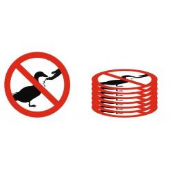 Lot Panneau défense de nourrir les canards