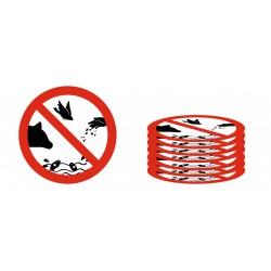 Lot Panneau défense de nourrir les animaux