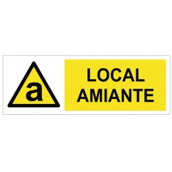 Panneau local amiante