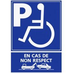 Panneau stationnement handicapé - en cas de non respect