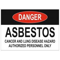 Panneau danger asbestos