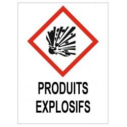 Panneau produits explosifs
