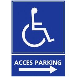 Panneau stationnement accès parking handicapés