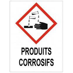 Panneau produits corrosifs