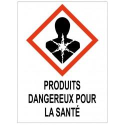 Panneau produits dangereux pour la santé