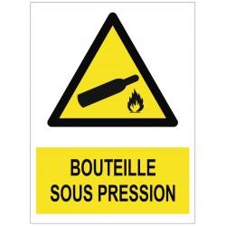 Panneau bouteille sous pression