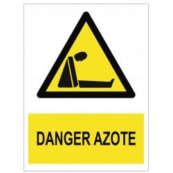 Panneau danger azote