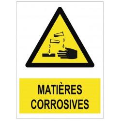Panneau matières corrosives