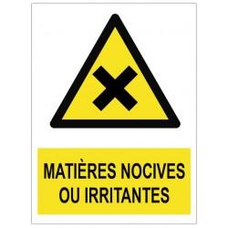 Panneau matières nocives ou irritantes