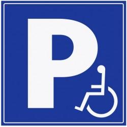 Panneau stationnement handicapé