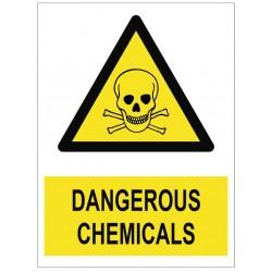 Panneau dangerous chemicals