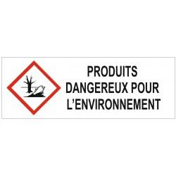 Panneau produits dangereux pour l'environnement