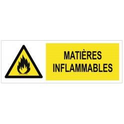 Panneau matières inflammables