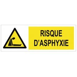 Panneau risque d'asphyxie