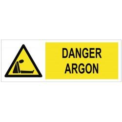 Panneau danger argon