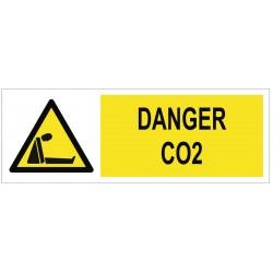 Panneau danger CO2