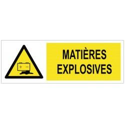 Panneau matières explosives