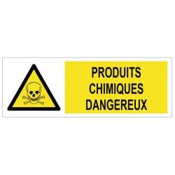 Panneau produits chimiques dangereux