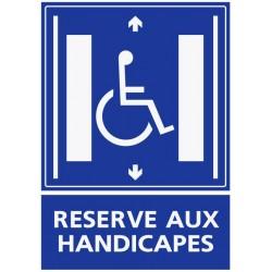 Autocollant réservé aux handicapés