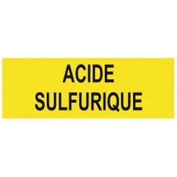 Panneau acide sulfurique