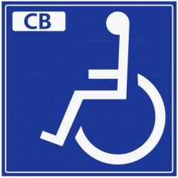 Autocollant handicapé paiement CB