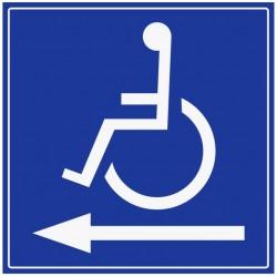 Autocollant handicapé - direction gauche