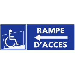 Autocollant handicapé rampe d'accès - direction gauche