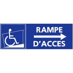 Autocollant handicapé rampe d'accès - direction droite