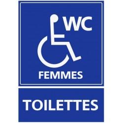 Autocollant Toilettes femmes handicapés