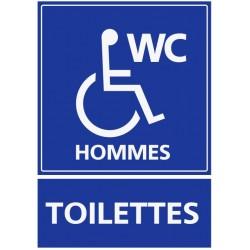 Autocollant Toilettes hommes handicapés