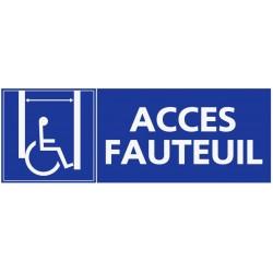 Panneau accès fauteuil roulant