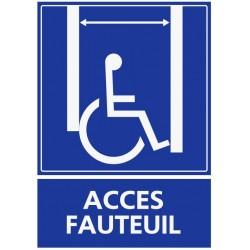 Panneau accès fauteuil pmr