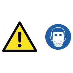 Panneau danger masque obligatoire