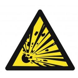 Panneau danger matières explosives