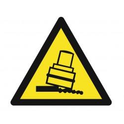 Panneau danger risque de basculement