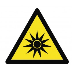 Panneau danger rayonnements optiques
